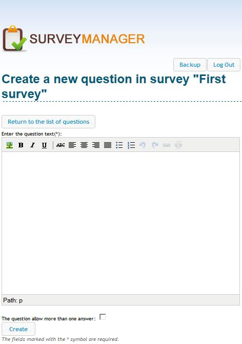 Create new question