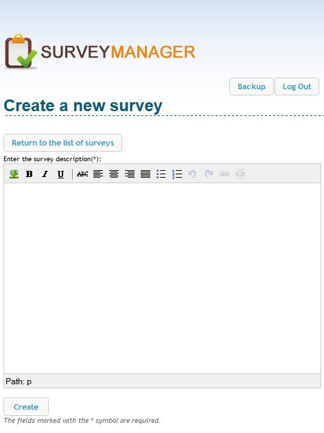 Create Survey